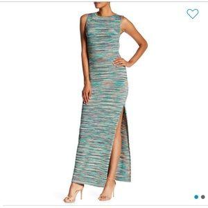 NWT Vertigo Sleeveless Spacedye Maxi Dress, M